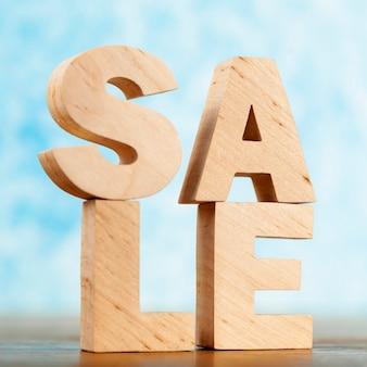 Sprzedaż napis zbliżenie na biurku