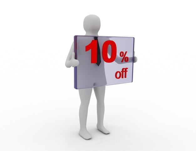 Sprzedaż sezonowa 10 procent zniżki na zniżkę na zakupy