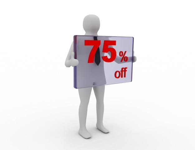 Sprzedaż sezonowa 75 procent zniżki na zniżkę na zakupy
