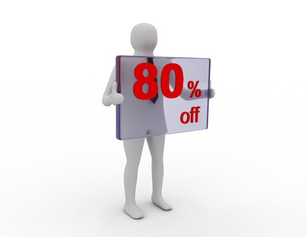 Sprzedaż sezonowa 80 procent zniżki na zniżkę na zakupy