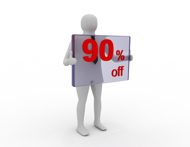 Sprzedaż sezonowa 90 procent zniżki na zniżkę na zakupy