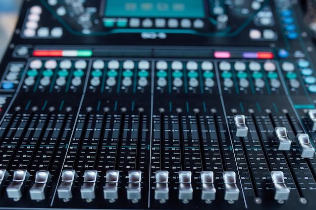 Sprzęt audio w studio nagrań