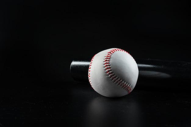 Sprzęt do gry w baseball z bliska