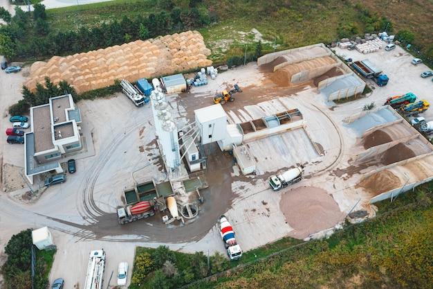 Sprzęt do produkcji asfaltu, cementu i betonu. betoniarnia. produkcja szkodliwa dla środowiska