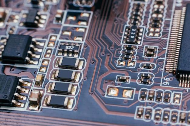 Sprzęt elektroniczny nowoczesna technologia płyta główna cyfrowy chip komputera osobistego