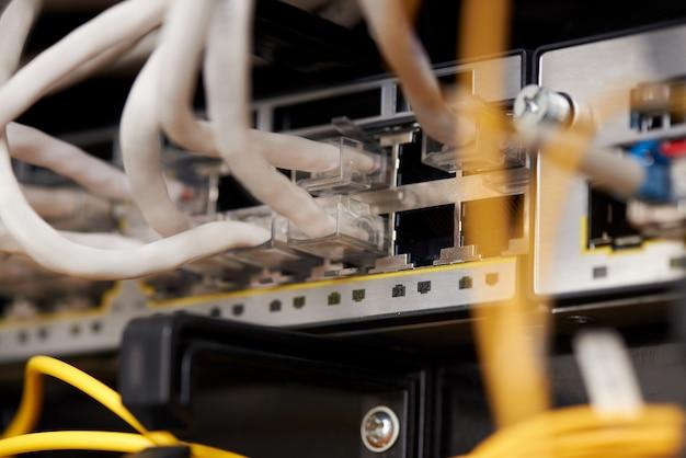 Sprzęt komunikacyjny dostawcy usług internetowych.