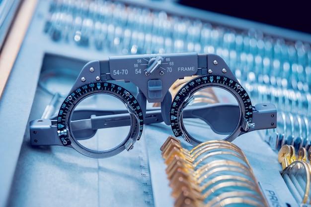 Sprzęt okulistyczny laboratorium medyczne nowoczesna technologia medyczna