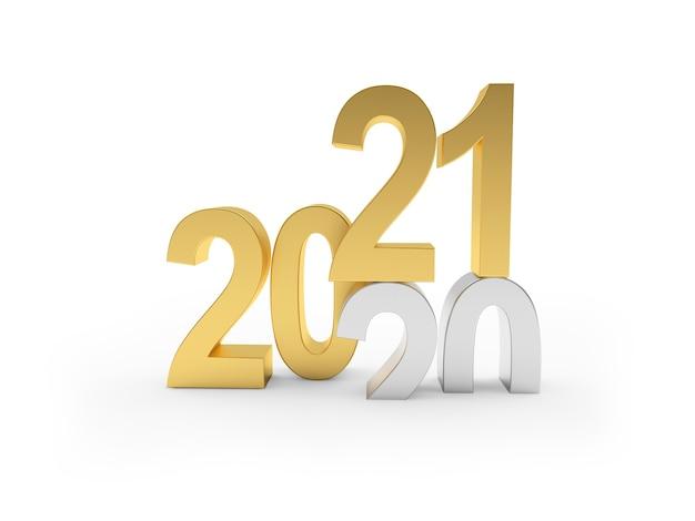 Srebrne liczby 2020 zmieniają się na złote 2021