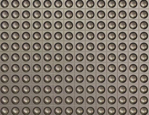 Srebrne złoto 3d render abstrakcyjnych kształtów tła
