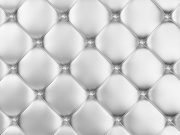 Srebrny skórzany tapicerka tło