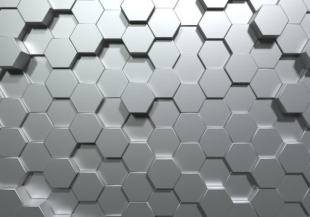 Srebrny sześciokąt o strukturze plastra miodu