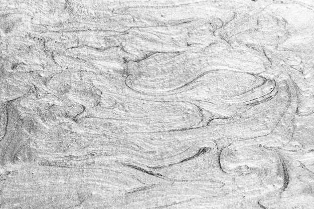 Srebro malowane teksturą tle ściany