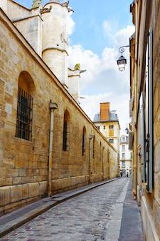 Średniowieczne ulice paris.france.