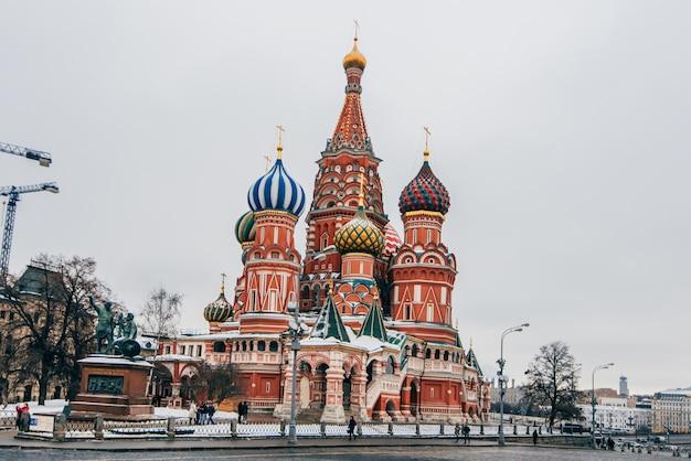 St basilu katedra na placu czerwonym, moskwa, rosja