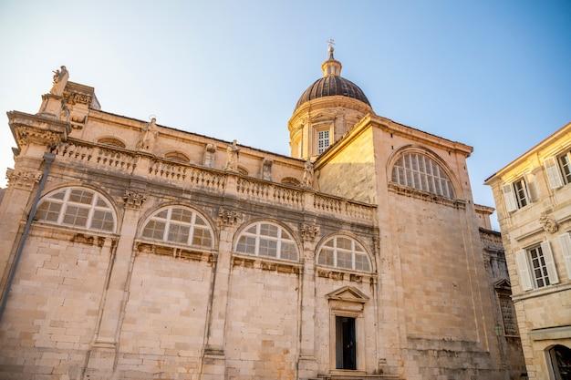 St blaise kościół przy stradun ulicą w starym mieście dubrovnik, chorwacja