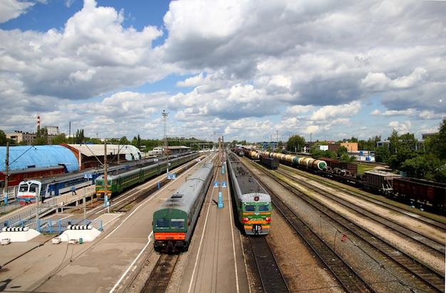 Stacja kolejowa kaługa w rosji