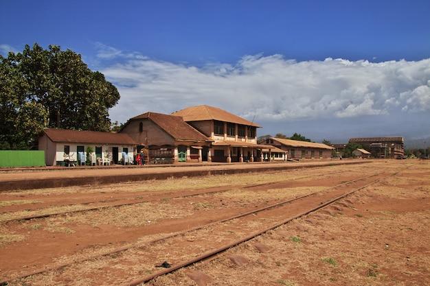 Stacja kolejowa w moshi mieście, afryka