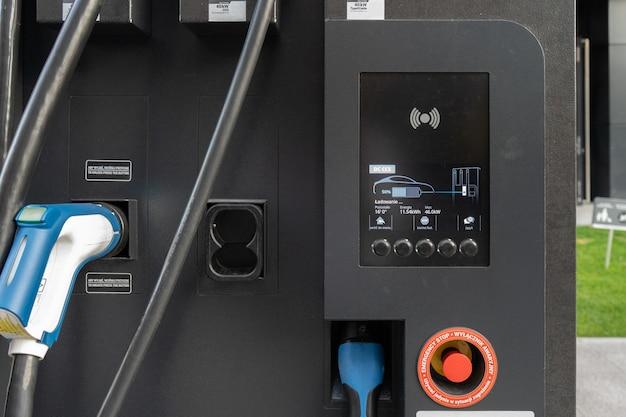Stacja ładowania public city do szybkiego ładowania pojazdów elektrycznych