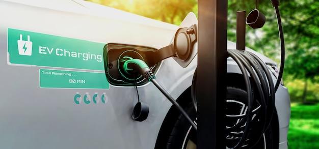 Stacja ładowania samochodów elektrycznych w koncepcji alternatywnej zielonej energii