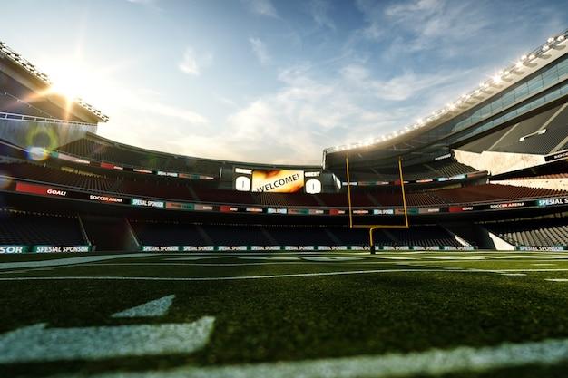 Stadion futbolu amerykańskiego, renderowanie 3d