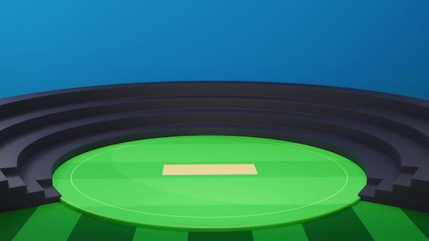 Stadion krykieta 3d lub tło placu zabaw.