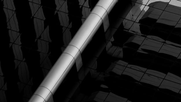 Stalowe rury wentylacyjne w nowoczesnym budynku.