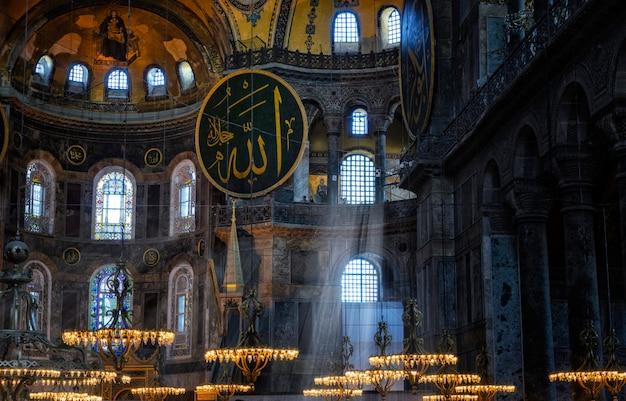 Stambuł, turcja. hagia sophia to największy zabytek kultury bizantyjskiej.