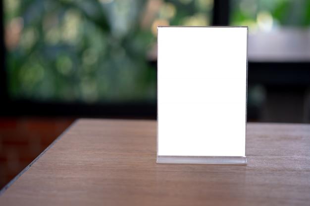 Stań mock up menu namiot ramowy karta projekt niewyraźne tło klucz wizualny układ