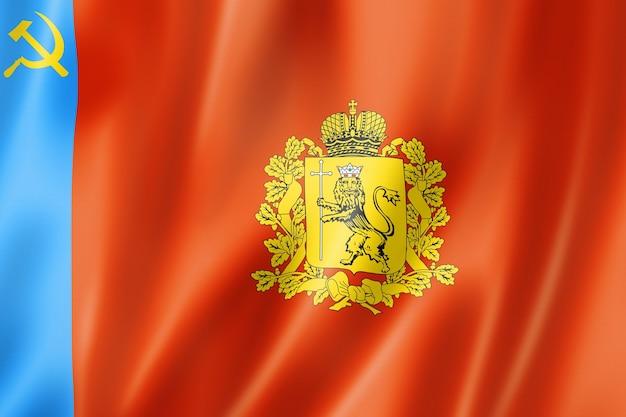 Stan władimir - obwód - flaga, kolekcja macha transparentu rosji. ilustracja 3d