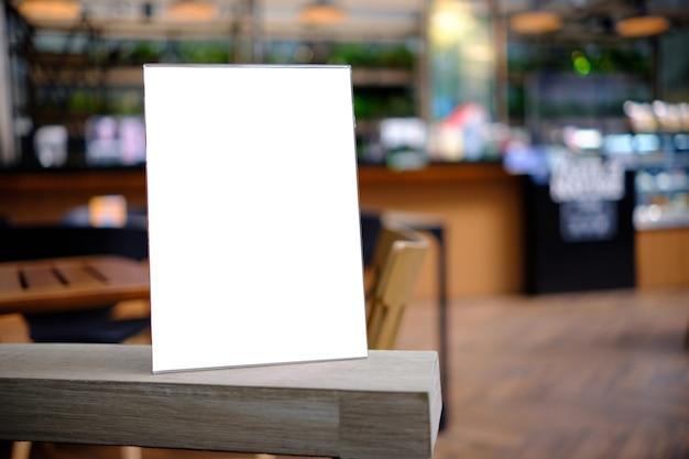 Stand mock up menu ramki karta namiotu rozmyte tło projekt kluczowy układ wizualny.