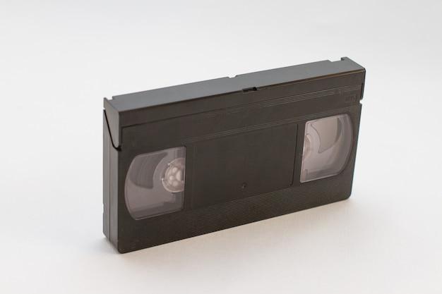 Standardowa kaseta wideo vhs na białym tle