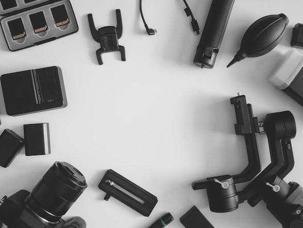 Stanowisko fotograficzne, stabilizatory gimbal i akcesoria do aparatu