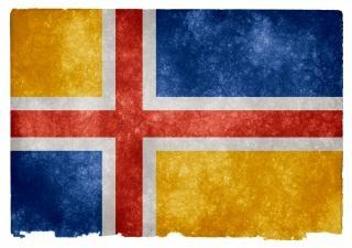 Stany skandynawia grunge flag czarny