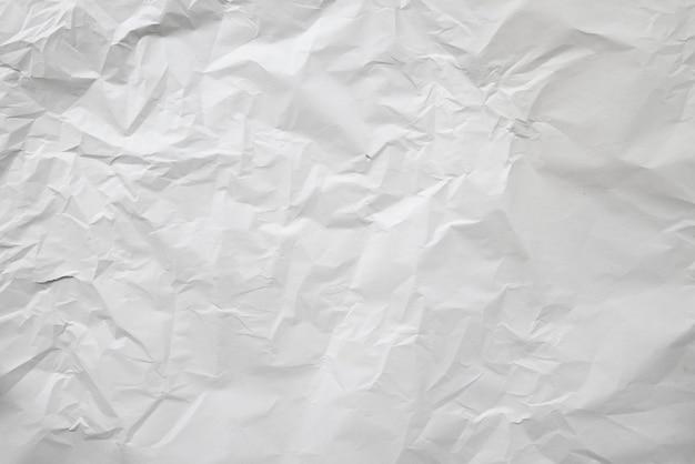 Stara biała zmięta papierowa tekstura
