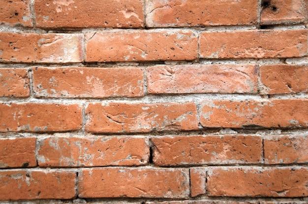 Stara czerwona ściana z cegieł tekstura