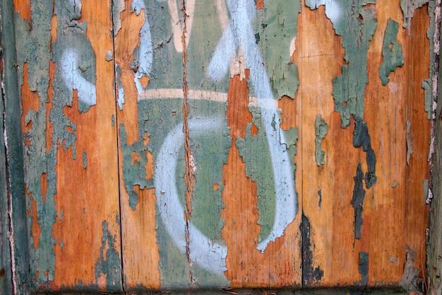 Stara drewniana tekstura z obraną farbą