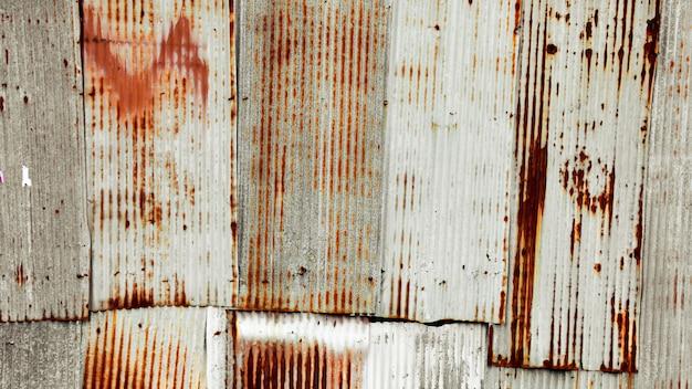 Stara i ośniedziała ocynkowana żelazna dachowa tekstura