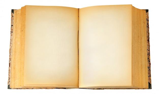 Stara książka z pustymi stronami
