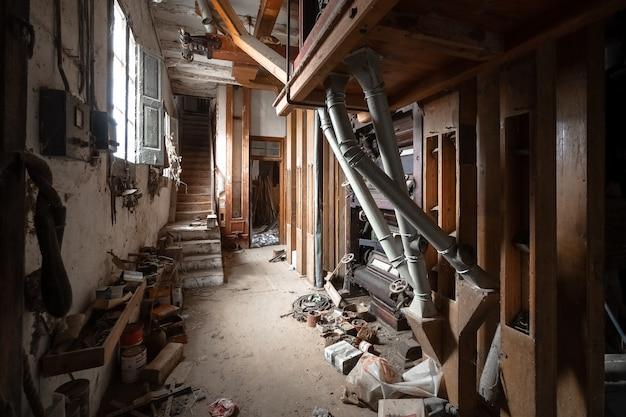 Stara opuszczona fabryka mąki