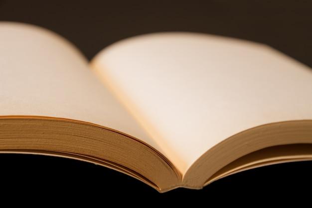 Stara otwarta puste miejsce książka na czerni