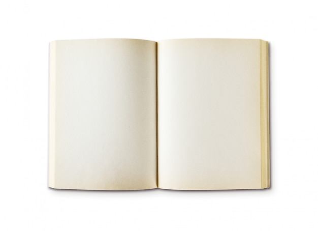 Stara otwarta puste miejsce książka odizolowywająca na bielu