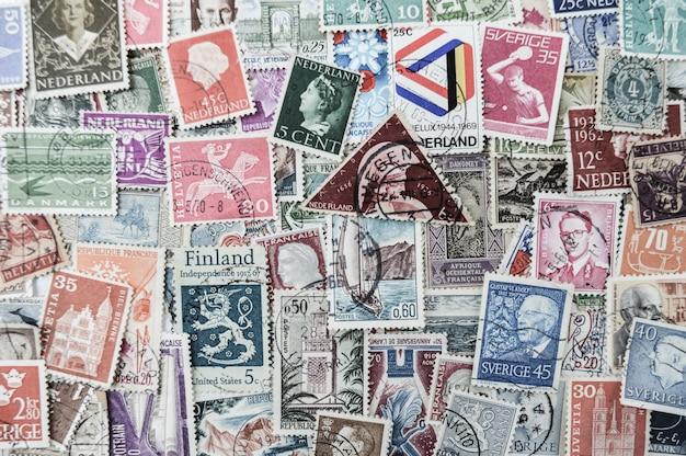 Stara poczta znaczków tło