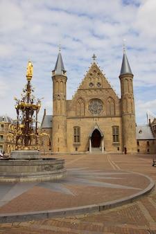 Stara sala rycerska ridderzaal, haga, holandia