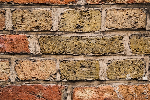 Stara ściana z cegieł tekstura jako tło