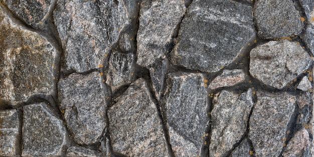 Stara ściana z kamienia naturalnego