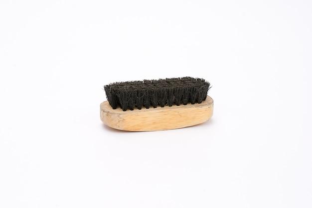 Stara szczotka do butów z drewnianym uchwytem