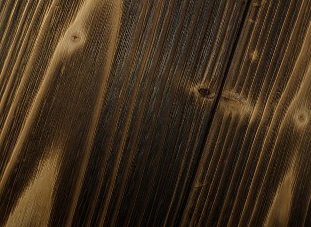 Stare ciemne spalone drewno