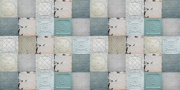 Stare dekoracyjne malowane cynowe płytki sufitowe jednolity wzór