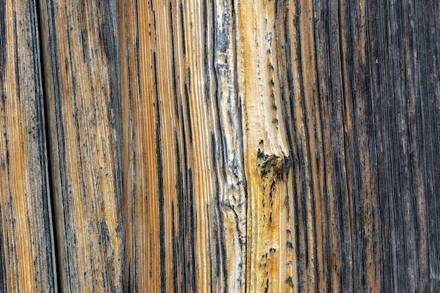 Stare drewniane drzwi ze starzejącą się metalową klamką architektoniczne tło z teksturą d