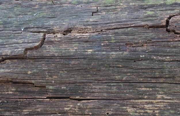 Stare drewniane tekstury, ciemnobrązowe ziarno drewna
